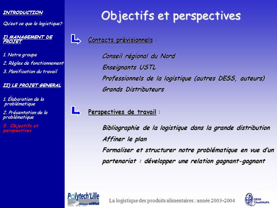 Objectifs et perspectives
