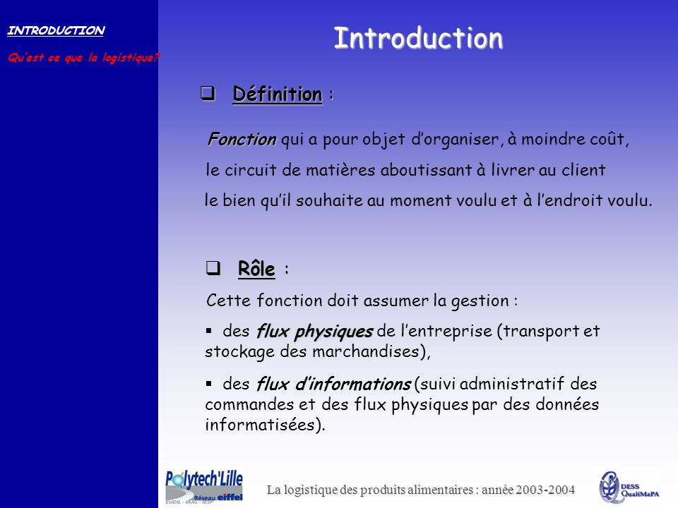 Introduction Définition : Rôle :
