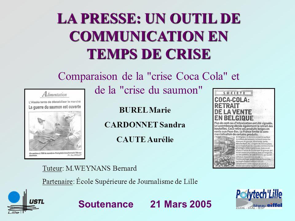 LA PRESSE: UN OUTIL DE COMMUNICATION EN TEMPS DE CRISE