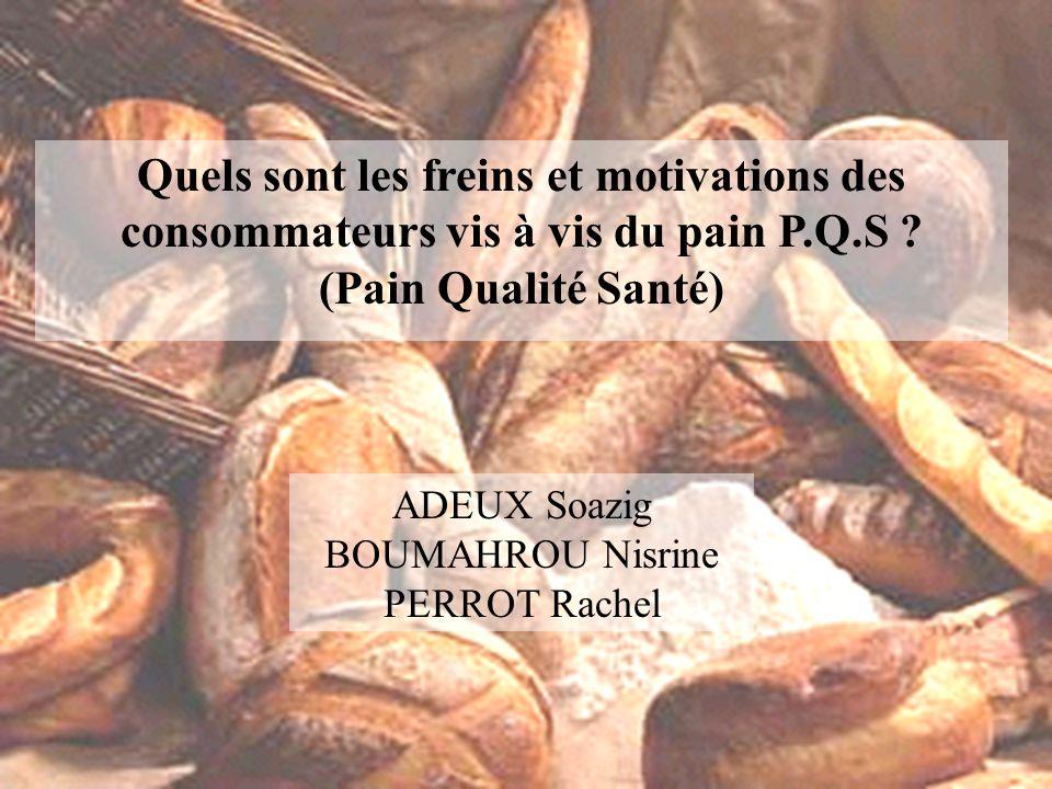 Quels sont les freins et motivations des consommateurs vis à vis du pain P.Q.S