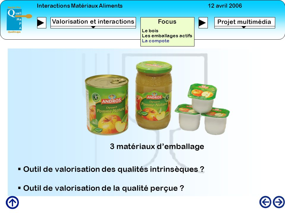 3 matériaux d'emballage