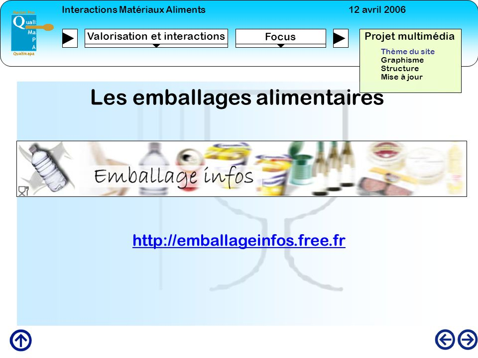 Les emballages alimentaires