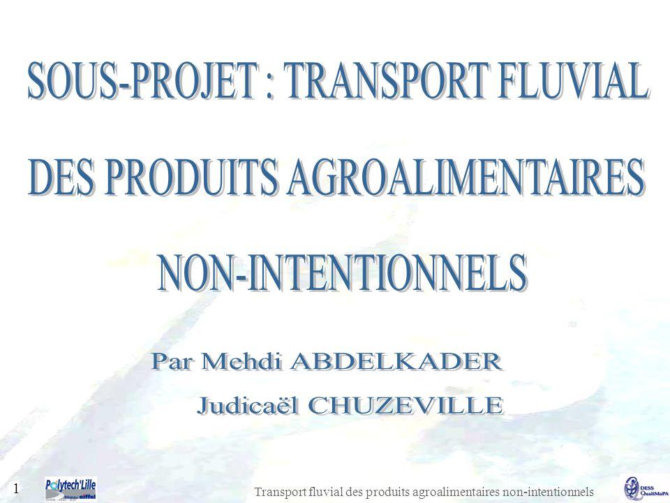 SOUS-PROJET : TRANSPORT FLUVIAL DES PRODUITS AGROALIMENTAIRES