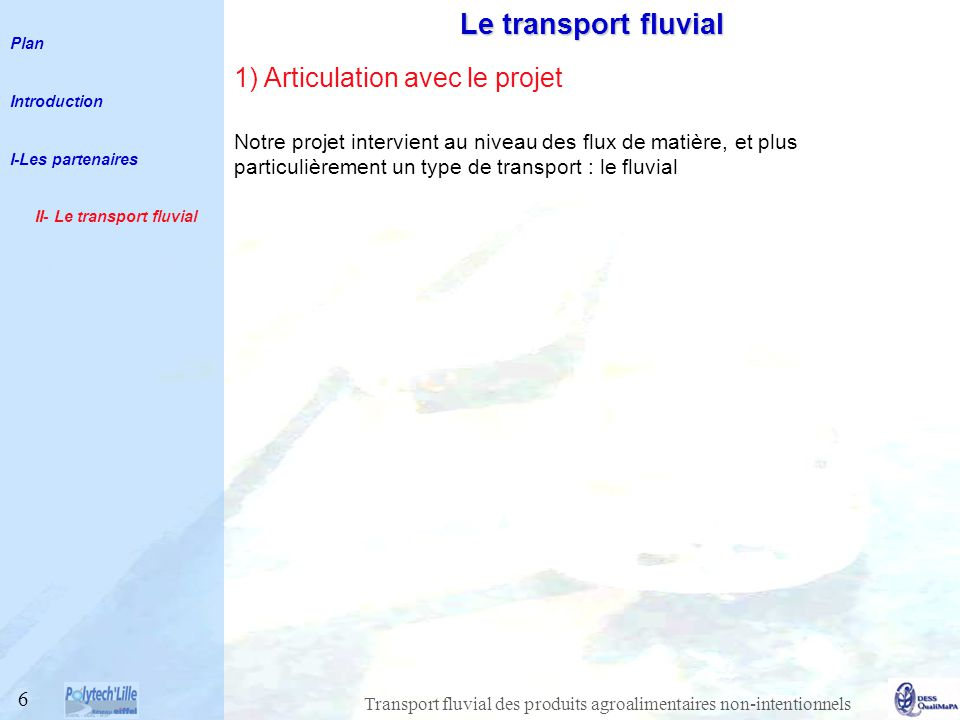 II- Le transport fluvial