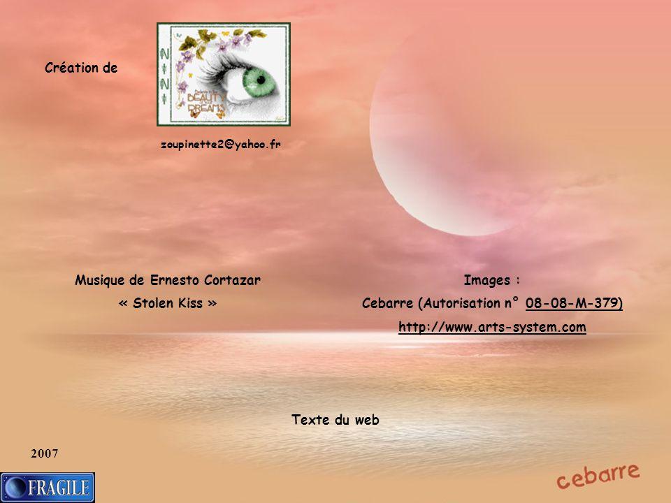 Musique de Ernesto Cortazar Cebarre (Autorisation n° 08-08-M-379)
