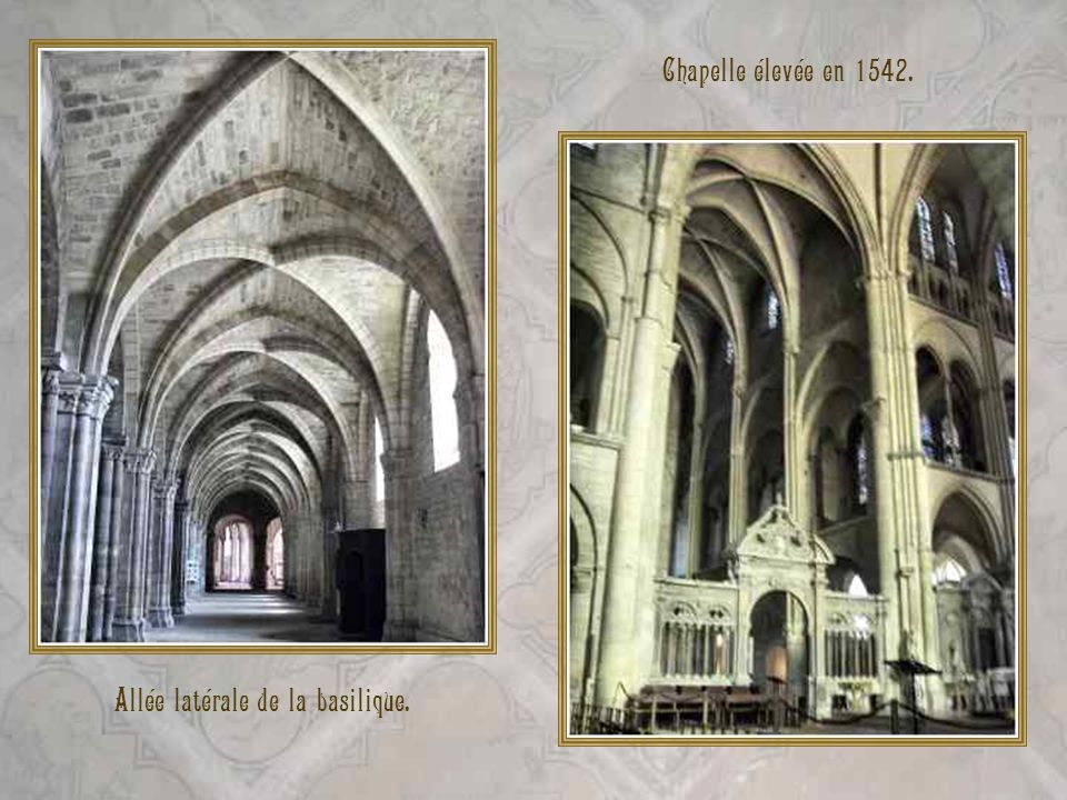 Allée latérale de la basilique.