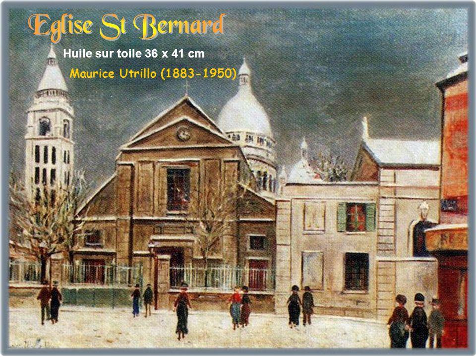 Eglise St Bernard Huile sur toile 36 x 41 cm