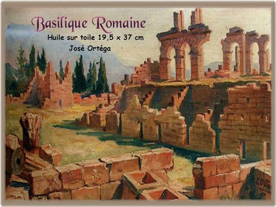 Basilique Romaine Huile sur toile 19,5 x 37 cm José Ortéga