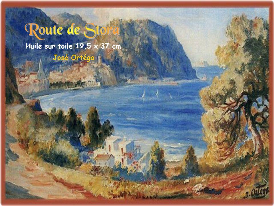 Route de Stora Huile sur toile 19,5 x 37 cm José Ortéga
