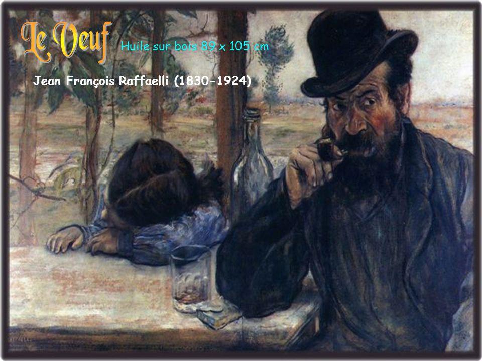 Le Veuf Huile sur bois 89 x 105 cm Jean François Raffaelli (1830-1924)