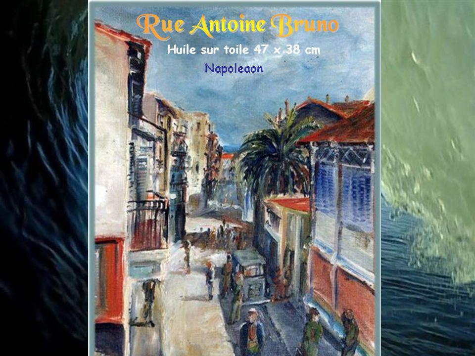 Rue Antoine Bruno Huile sur toile 47 x 38 cm Napoleaon