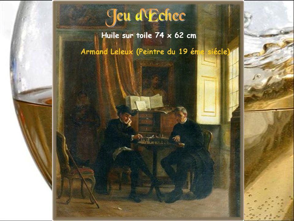 Jeu d Echec Huile sur toile 74 x 62 cm