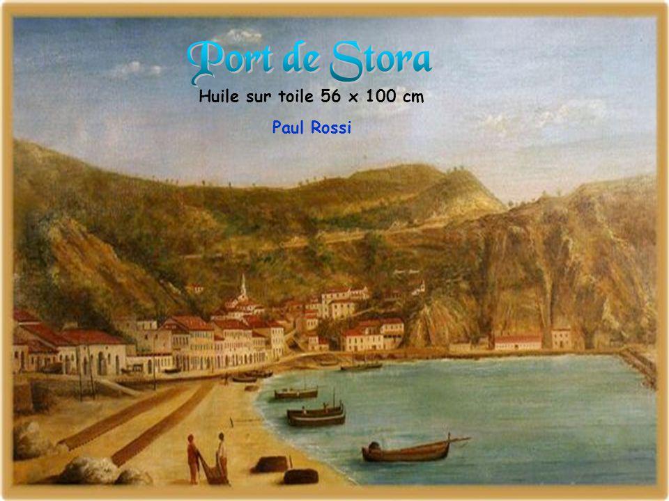 Port de Stora Huile sur toile 56 x 100 cm Paul Rossi