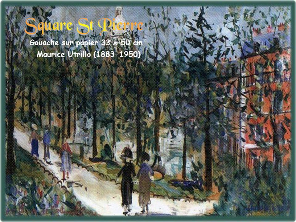 Square St Pierre Gouache sur papier 33 x 50 cm