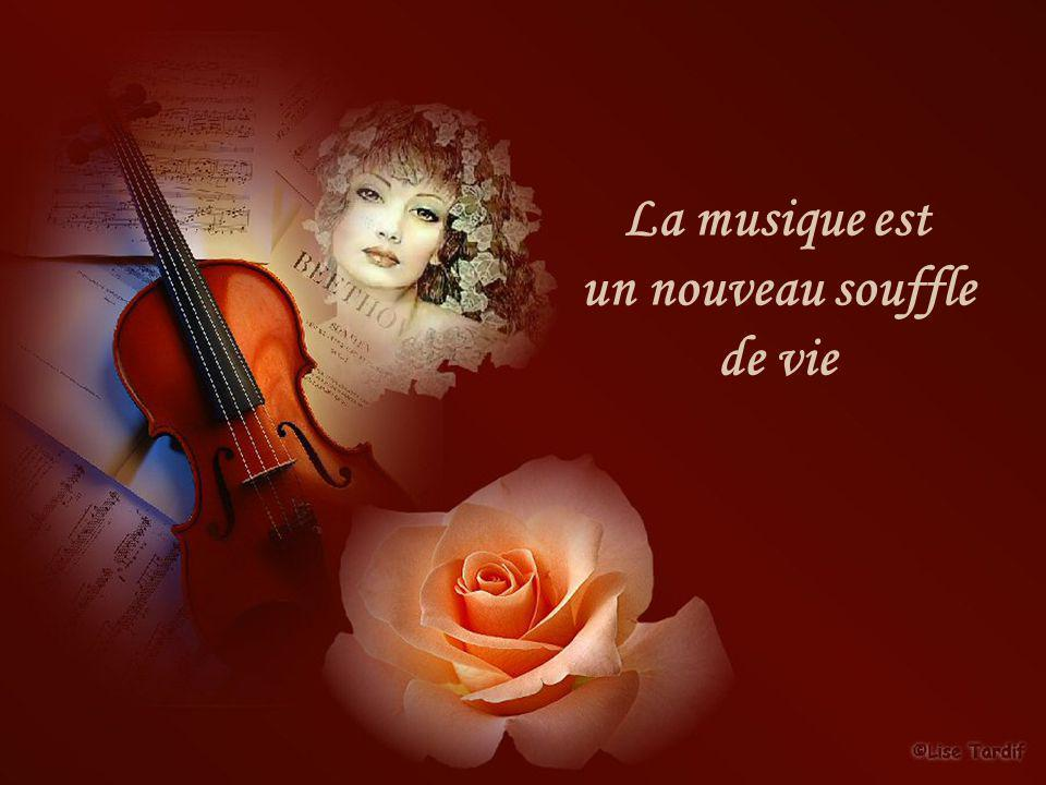 La musique est un nouveau souffle de vie