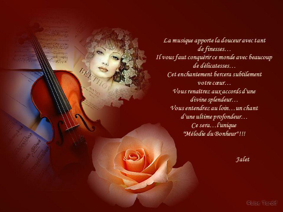 La musique apporte la douceur avec tant de finesses…