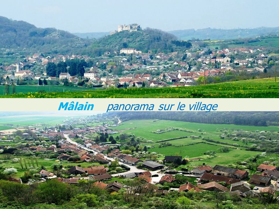 Mâlain panorama sur le village
