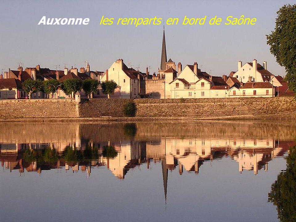 Auxonne les remparts en bord de Saône