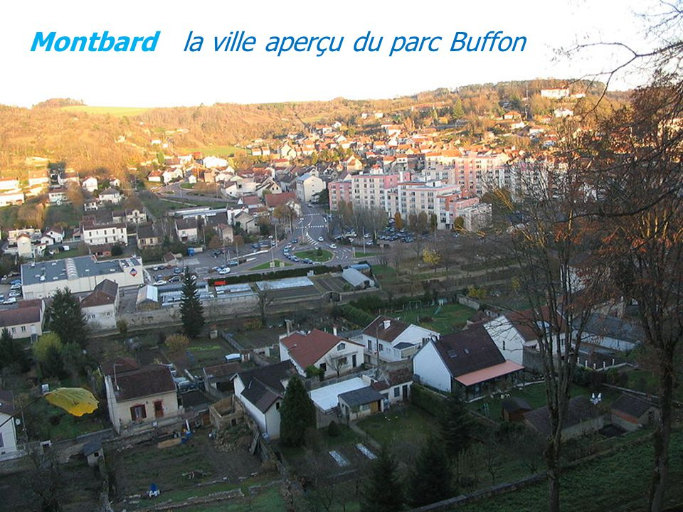 Montbard la ville aperçu du parc Buffon