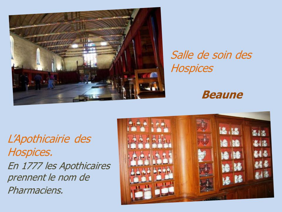 Salle de soin des Hospices . . Beaune
