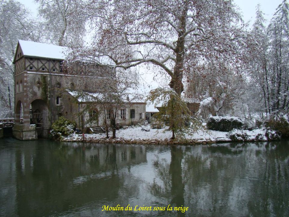 Moulin du Loiret sous la neige