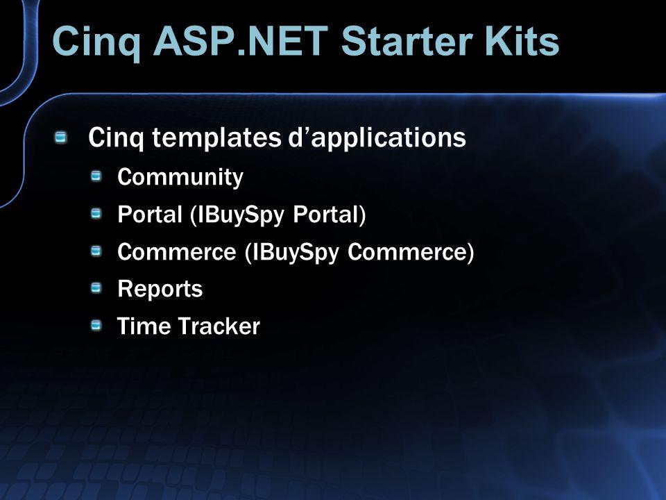 Cinq ASP.NET Starter Kits