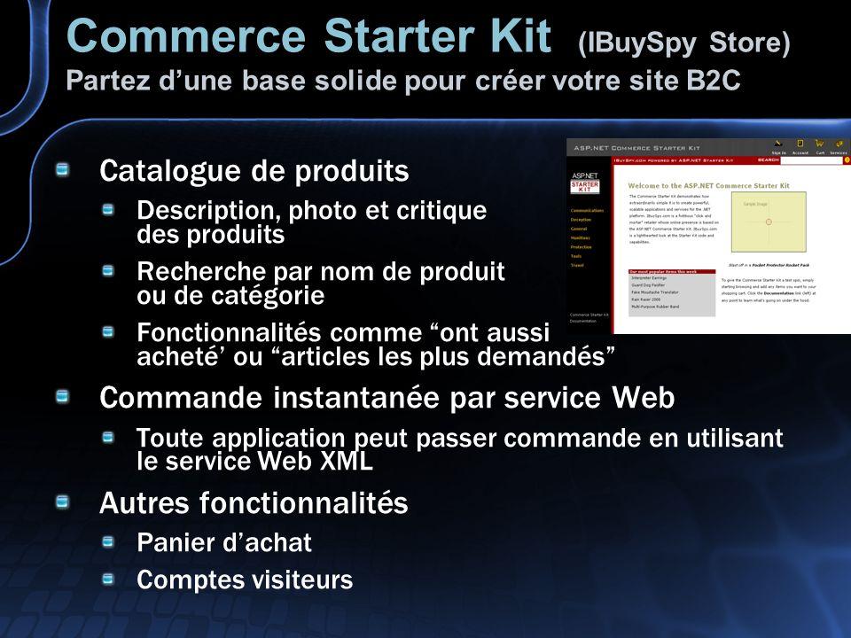 Commerce Starter Kit (IBuySpy Store) Partez d'une base solide pour créer votre site B2C