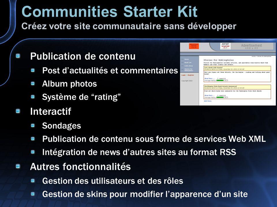 Communities Starter Kit Créez votre site communautaire sans développer