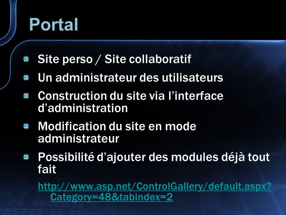 Portal Site perso / Site collaboratif