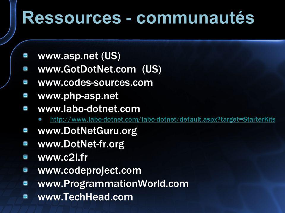 Ressources - communautés
