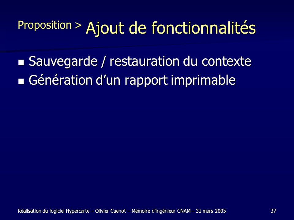 Proposition > Ajout de fonctionnalités