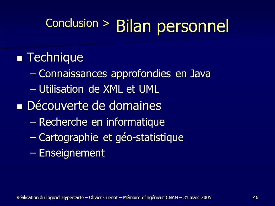 Conclusion > Bilan personnel
