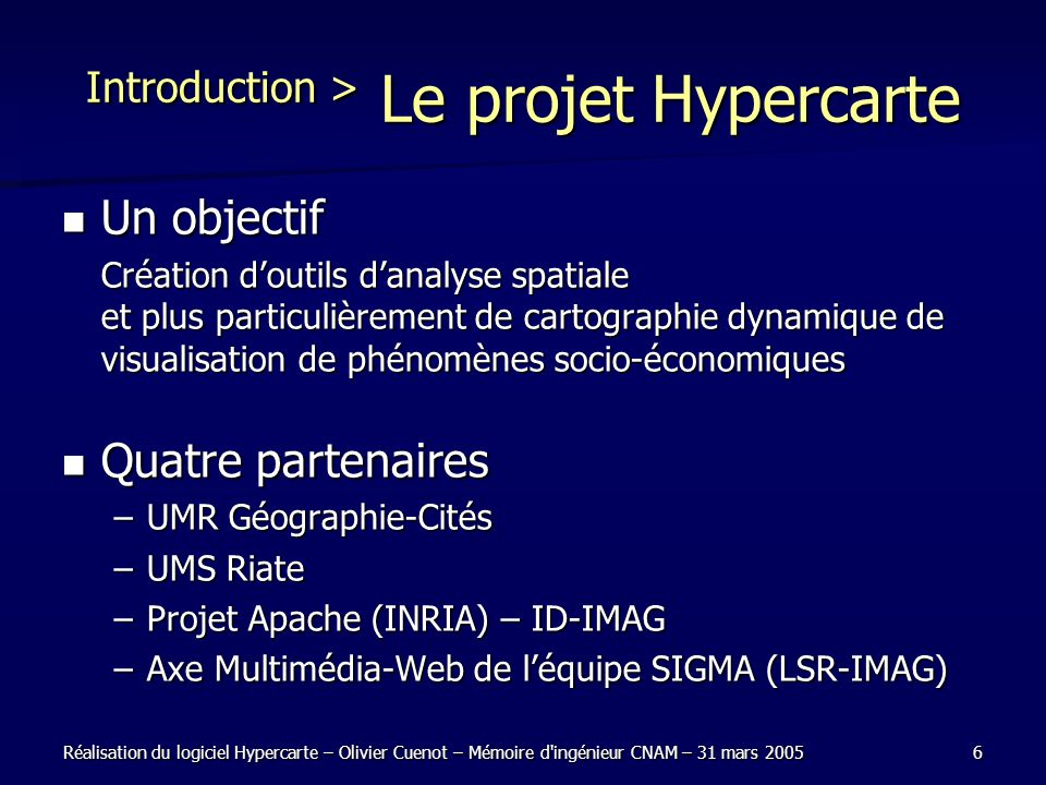 Introduction > Le projet Hypercarte