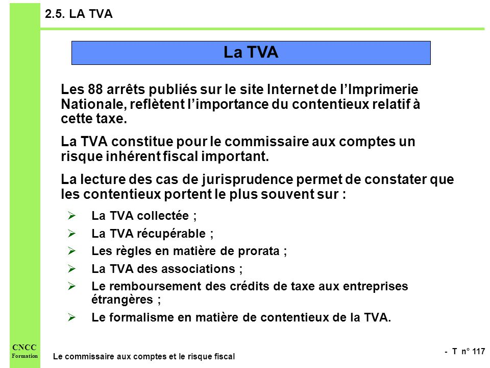 2.5. LA TVA La TVA.