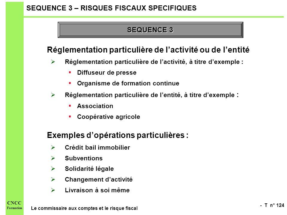 SEQUENCE 3 – RISQUES FISCAUX SPECIFIQUES