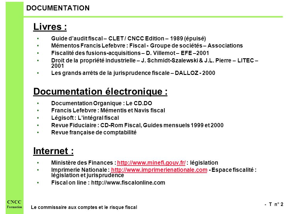 Documentation électronique :
