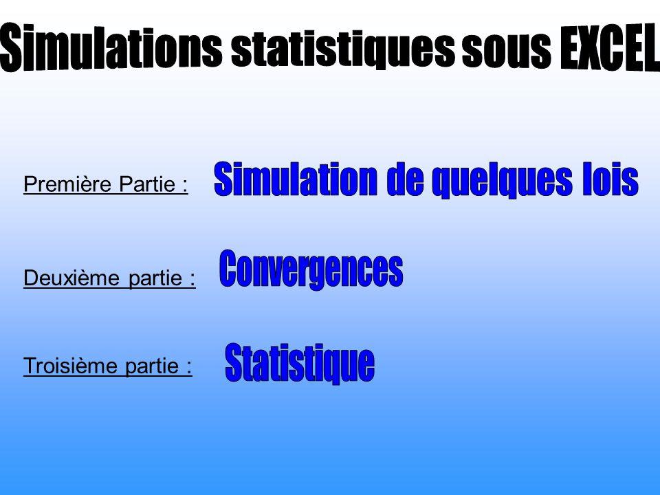 Simulations statistiques sous EXCEL