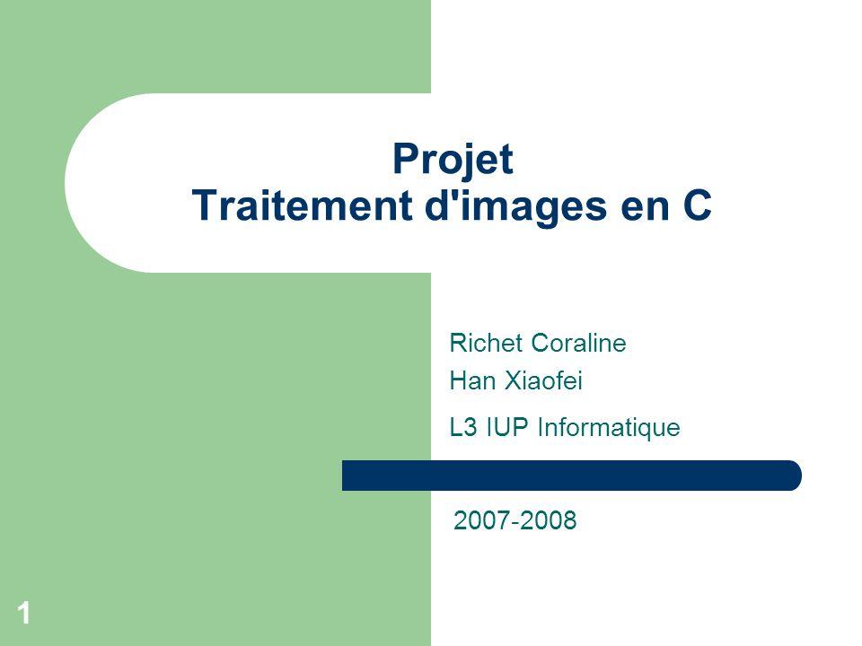Projet Traitement d images en C