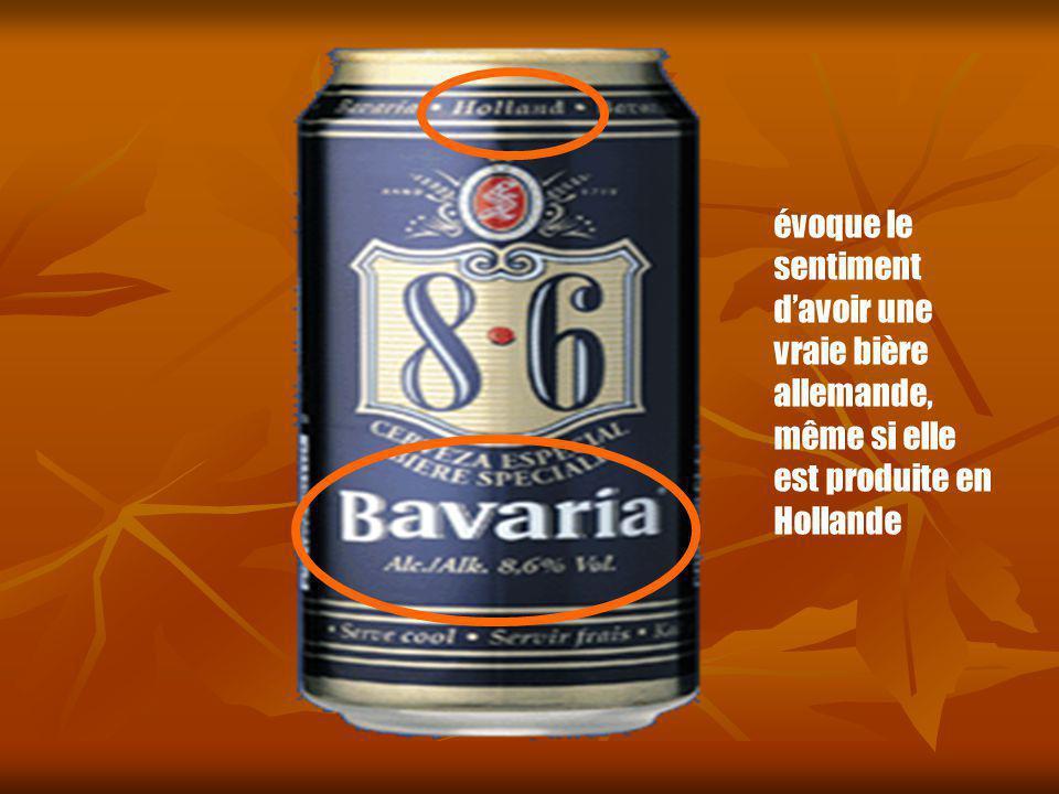 évoque le sentiment d'avoir une vraie bière allemande, même si elle est produite en Hollande