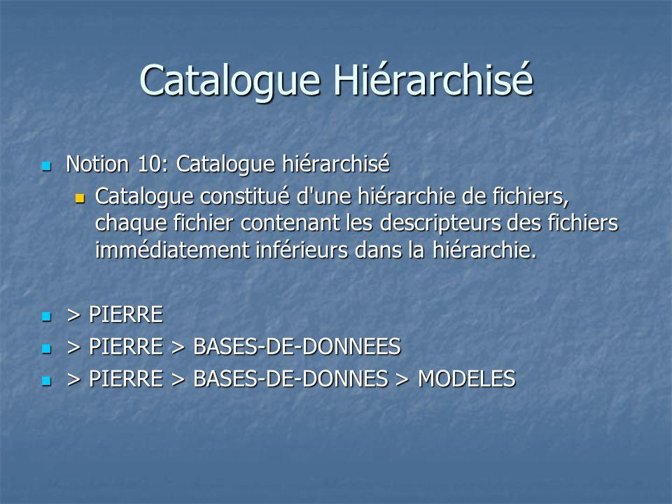Catalogue Hiérarchisé