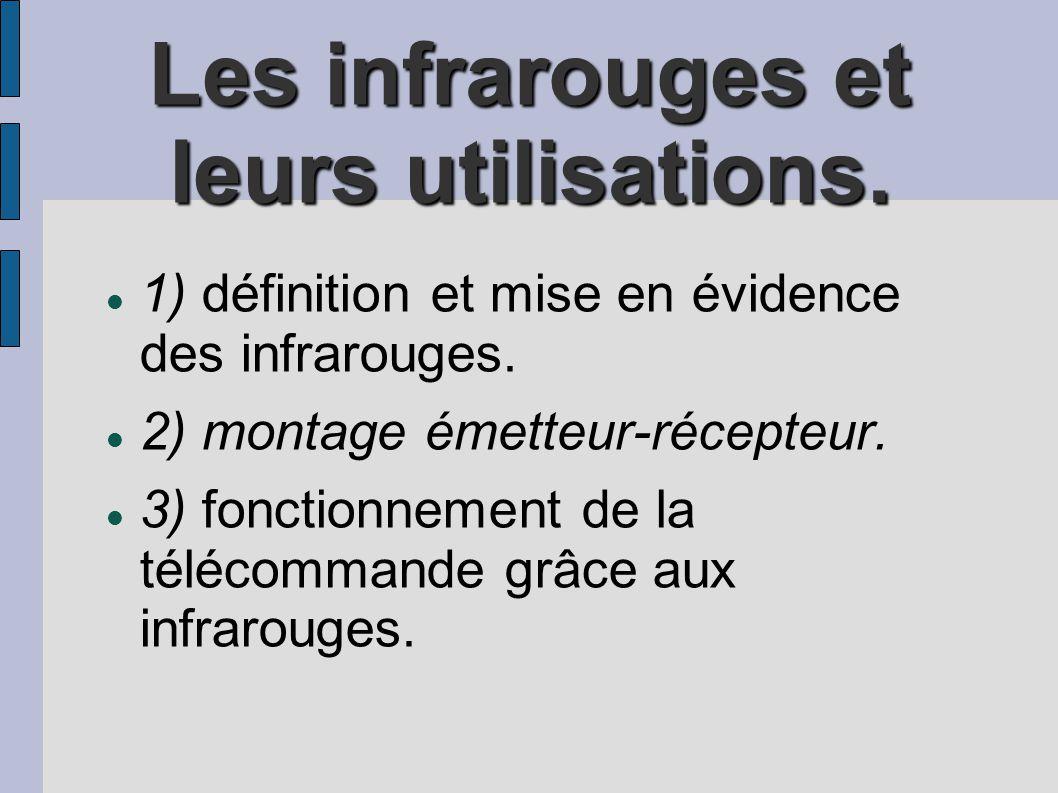 Les infrarouges et leurs utilisations.
