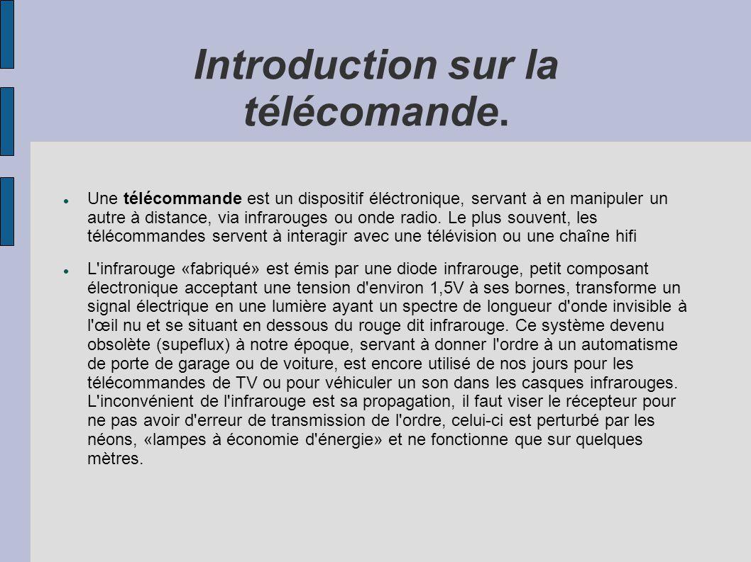 Introduction sur la télécomande.