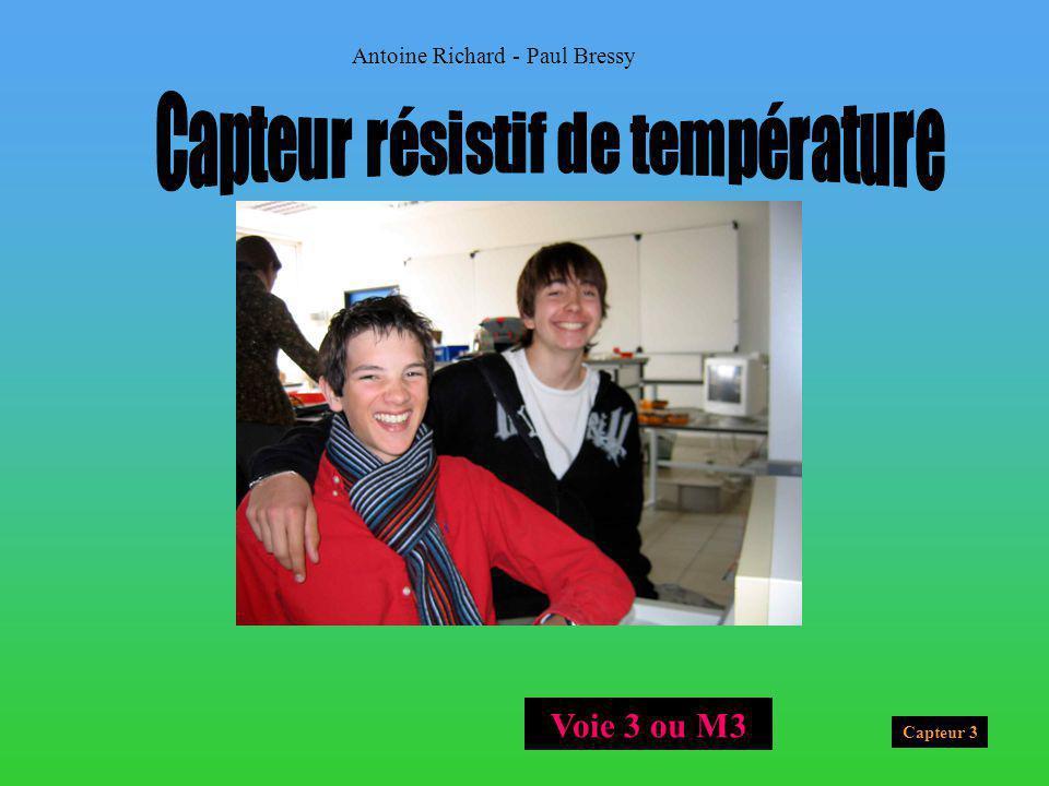 Capteur résistif de température