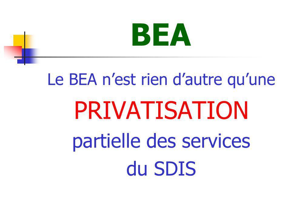 BEA PRIVATISATION partielle des services du SDIS