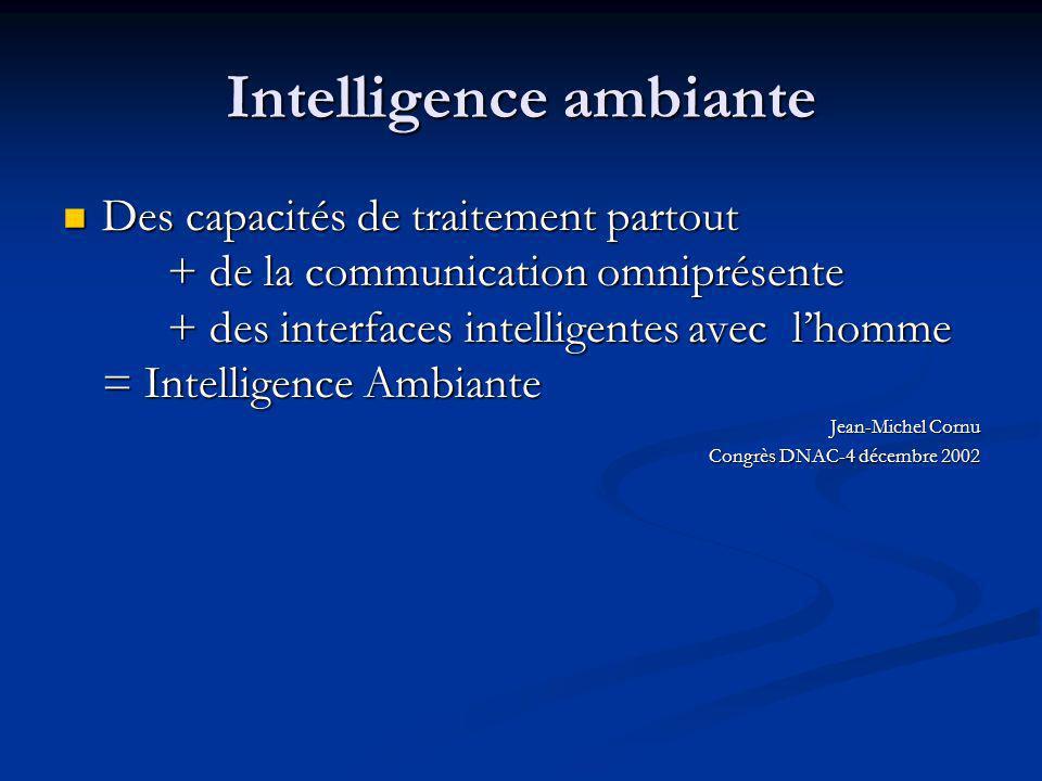 Intelligence ambiante
