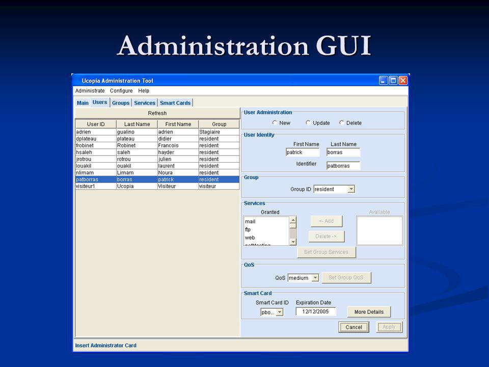 Administration GUI