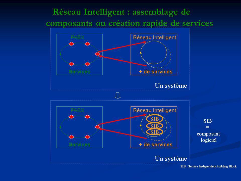 Réseau Intelligent : assemblage de composants ou création rapide de services