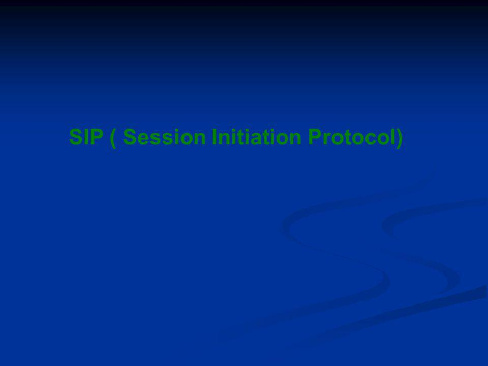 SIP ( Session Initiation Protocol)