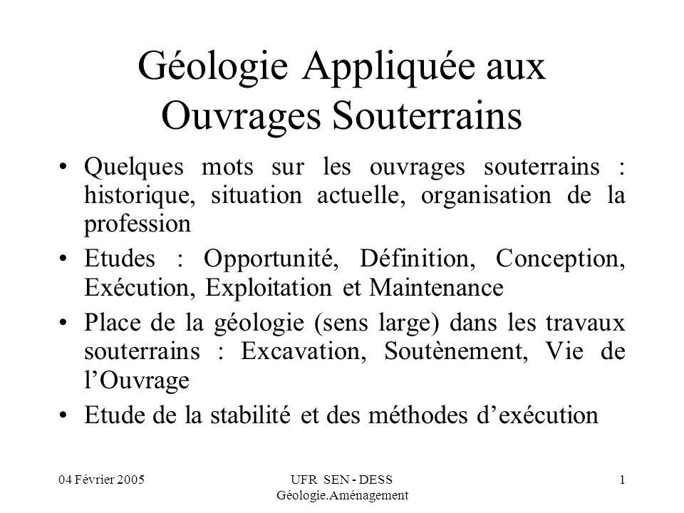 Géologie Appliquée aux Ouvrages Souterrains