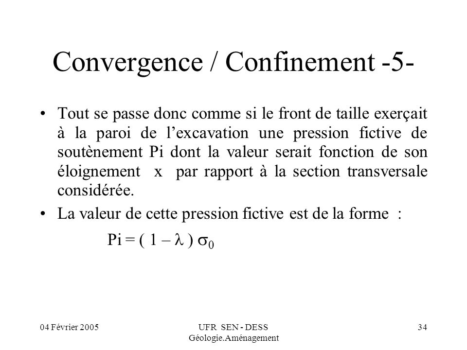 Convergence / Confinement -5-